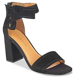 Tommy Hilfiger Bow Suede Heels
